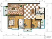 万裕・润园3室2厅1卫125平方米户型图
