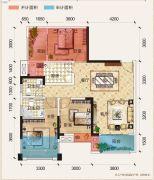 置地城二期・天玺3室2厅2卫87平方米户型图