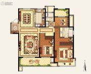 玉环新城吾悦广场3室2厅2卫143平方米户型图