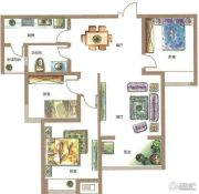 锦江城市花园3室2厅1卫117平方米户型图