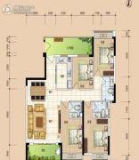 华安珑廷4室2厅3卫139平方米户型图