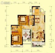 世界钰园2室2厅2卫101平方米户型图