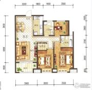 兰石豪布斯卡3室2厅2卫119平方米户型图