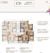 绿城・留香园3室2厅2卫125平方米户型图