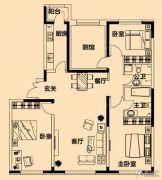 铂金首府3室2厅2卫137平方米户型图