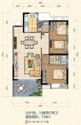 大悦花园3室2厅2卫109平方米户型图