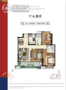 保利万兆・大国�Z3室2厅2卫0平方米户型图