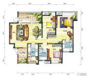新鸿基悦城3室2厅2卫155平方米户型图