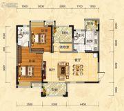 福庆花雨树3室2厅2卫106平方米户型图