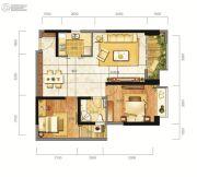 东方希望天祥广场天荟2室2厅1卫84平方米户型图