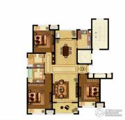 优山美地名邸3室2厅2卫144平方米户型图
