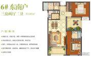 班芙春天3室2厅2卫105平方米户型图