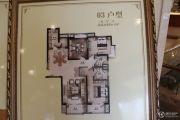 郦城国际3室2厅2卫143平方米户型图