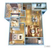 证大大拇指广场2室2厅1卫84平方米户型图