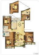 德辉天玺湾4室2厅2卫139平方米户型图