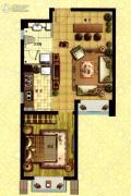 枫林天下1室1厅1卫57平方米户型图