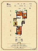 东领伯爵3室2厅2卫113平方米户型图