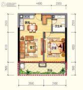 皇家海湾公馆1室2厅1卫55--66平方米户型图