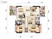 得圣湾3室2厅1卫97平方米户型图