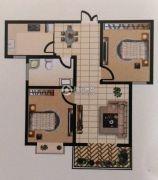 广厦黄金花园2室2厅1卫95平方米户型图