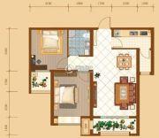 昆河壹号2室2厅1卫84平方米户型图