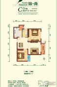 融尚中央住区2室2厅1卫78平方米户型图