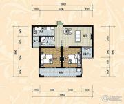 国际华城四期2室2厅1卫86平方米户型图