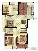 华仁凤凰城3室2厅2卫141平方米户型图
