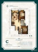 公园6号2室2厅1卫91平方米户型图