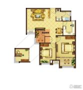 美好汇邻湾3室2厅1卫90平方米户型图