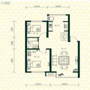 丽江苑2室2厅1卫85平方米户型图