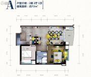 嘉辉豪庭・森镇2室2厅1卫0平方米户型图