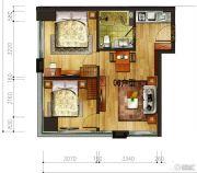 昆明置信银河广场1室0厅1卫0平方米户型图