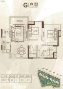 中鼎・君和名城3室2厅1卫88平方米户型图