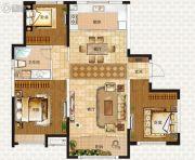 中海蓝湾3室2厅1卫118平方米户型图