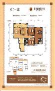彰泰北城1号3室2厅2卫117平方米户型图