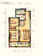 皇家海湾公馆2室2厅1卫82--94平方米户型图