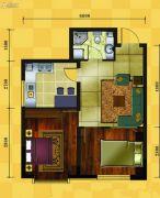 十三街区2室1厅1卫63平方米户型图