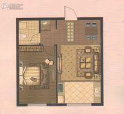 东升江郡1室1厅1卫0平方米户型图