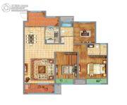 万达广场3室2厅2卫122平方米户型图