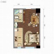 金沙星城1室1厅1卫48平方米户型图