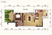 达达公馆2室2厅1卫51平方米户型图
