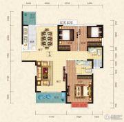 恒大绿洲3室2厅2卫126平方米户型图