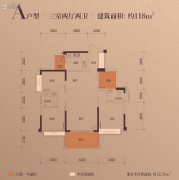 富辰・�箸缤�3室2厅2卫117--118平方米户型图