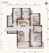 滨河果岭3室2厅2卫139平方米户型图