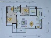艺海苑2室2厅1卫88平方米户型图