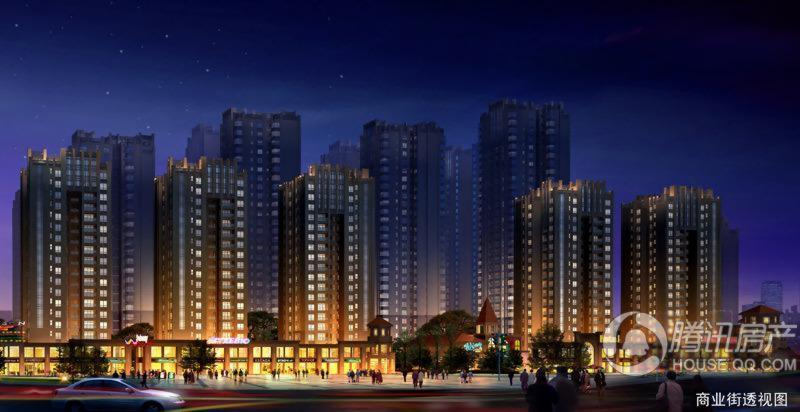 瀚城国际商业夜景透视图