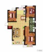 骏景豪庭3室2厅2卫124平方米户型图