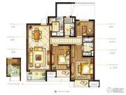 九龙仓时代上城3室2厅2卫108平方米户型图