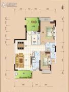 华安珑廷2室2厅2卫96平方米户型图